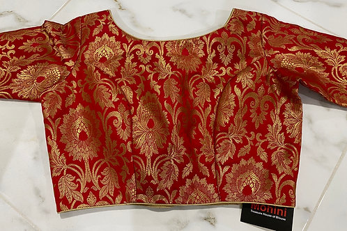 Red  brocade back buttons