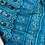 Thumbnail: Dark Turquoise blue Baluchori silk