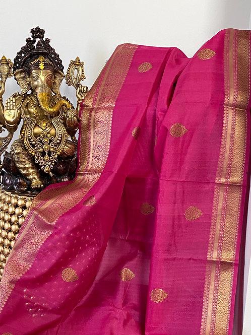 Pink Tassar Benarasi