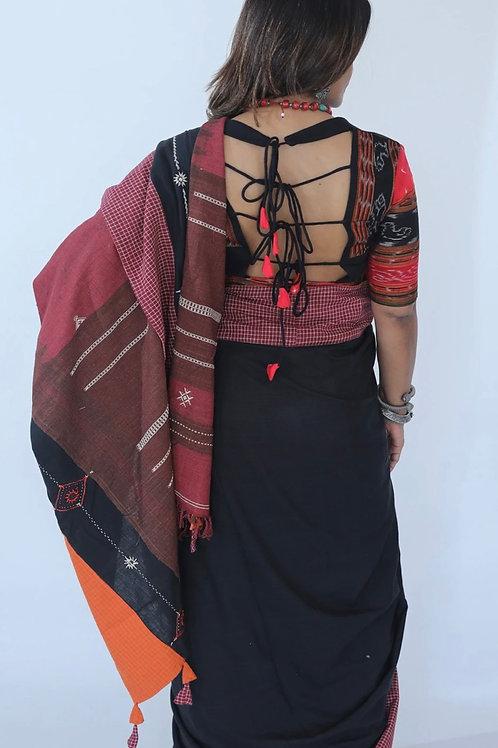 Black and Red Passapalli Blouse