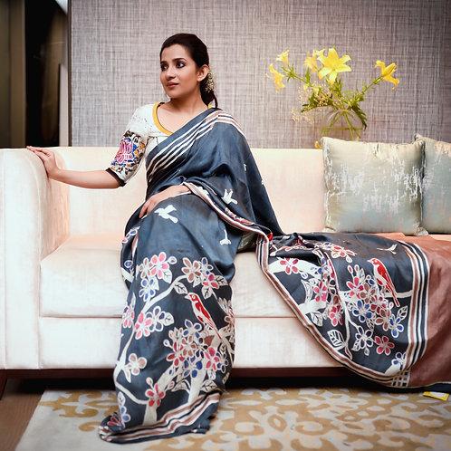 Silk Batik saree.
