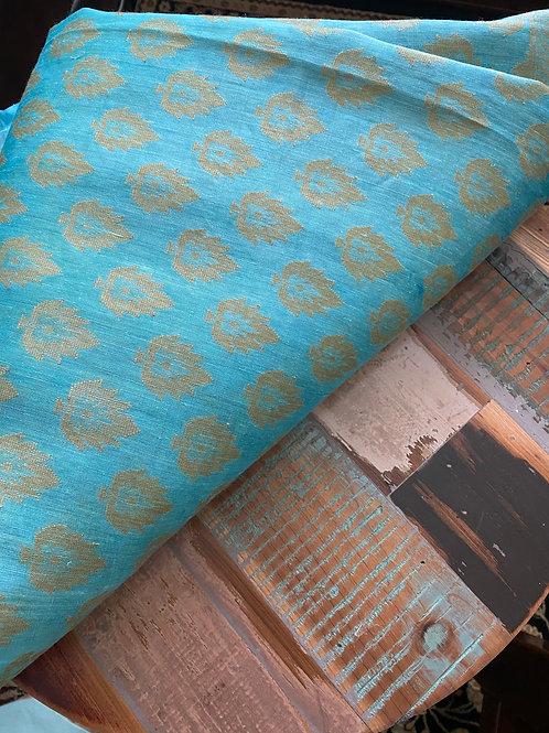 Sky Blue  silk Linen