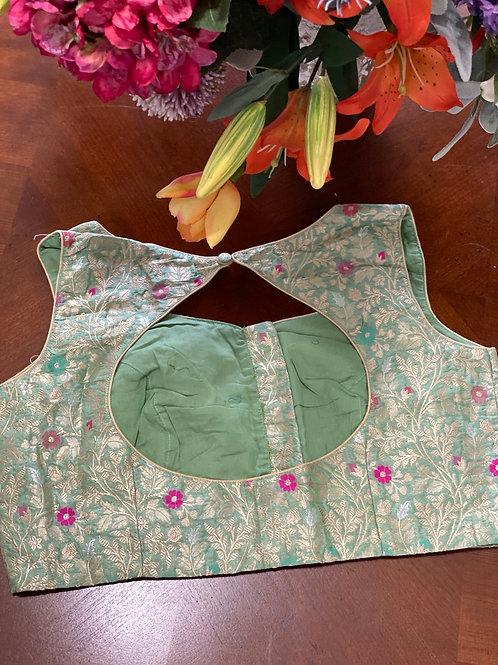 Mint Green Benerasi Brocade