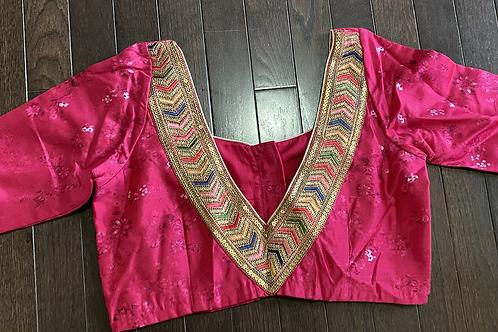 Floral silk with V back