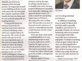 Attorney C.J. Graves Featured in December's Multnomah Lawyer