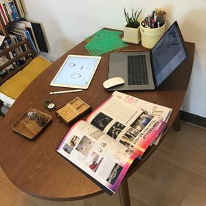 Jewelry designer's desk