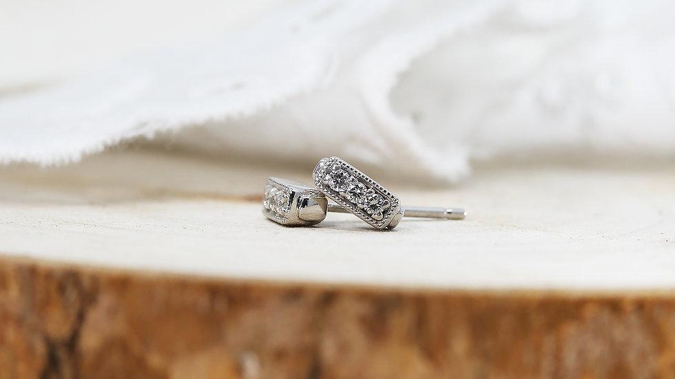 TREASURE BOX EARRINGS in Platinum, Diamonds