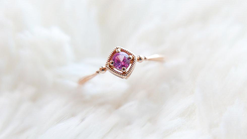 TREASURE BOX in 18k Gold, Pink Sapphire