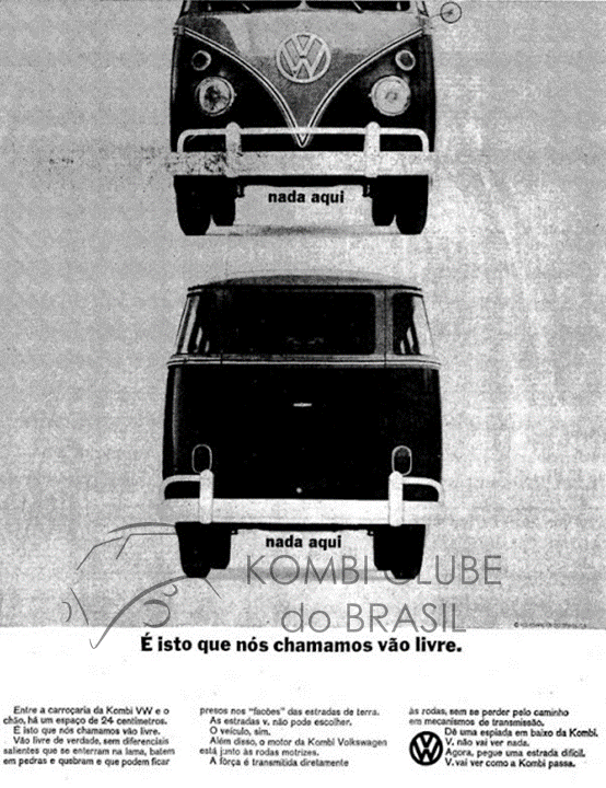 Propaganda Kombi Vao livre decada de 60.