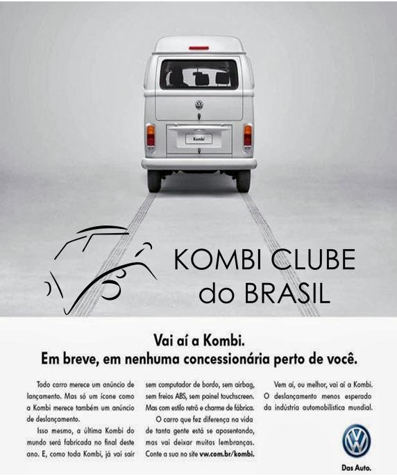 Propaganda deslancamento da Kombi 2013.p