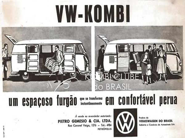 Propaganda Kombi Decada de 50 Concession