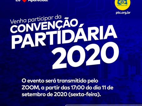 Edital de chamamento de Convenções para Eleições de 2020.