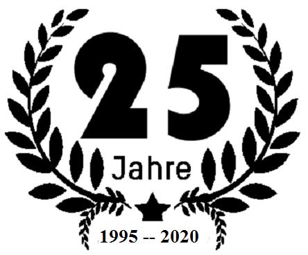 Im nächsten Jahr ist es soweit! 1995 - 2020