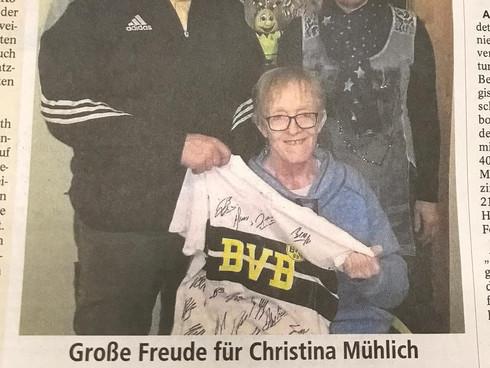 Große Freude für Christina Mühlich