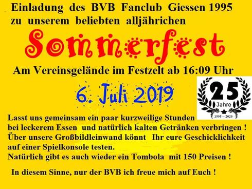 Sommerfest 2019 am 06.07.2019