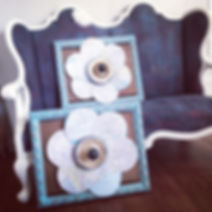 A pair of funky flowers for your wall #w