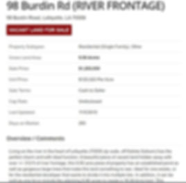 Burdin Rd 1 River properties Robert Crou
