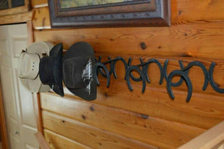 Horseshoe hat rack
