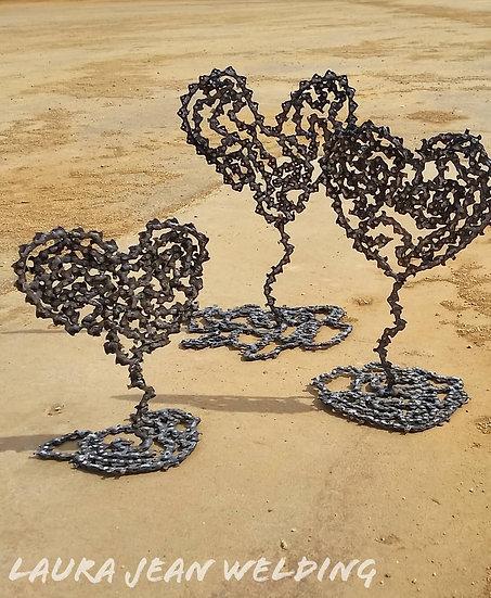 Chainsaw Chain Hearts