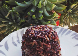 Arroz negro con arroz integral
