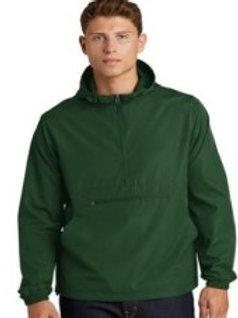 Embroidered Forest Green Sport Tek Packable Rain Jacket