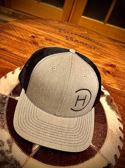 Trucker Hat - Grey on Black