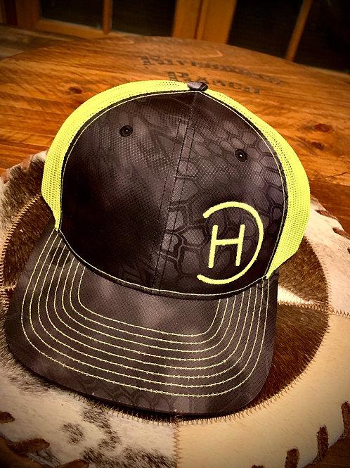 Trucker Hat - Kryptek Black/Neon Green