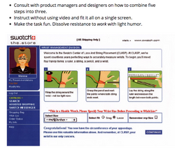 SWATCH - Ecommerce - Instructions