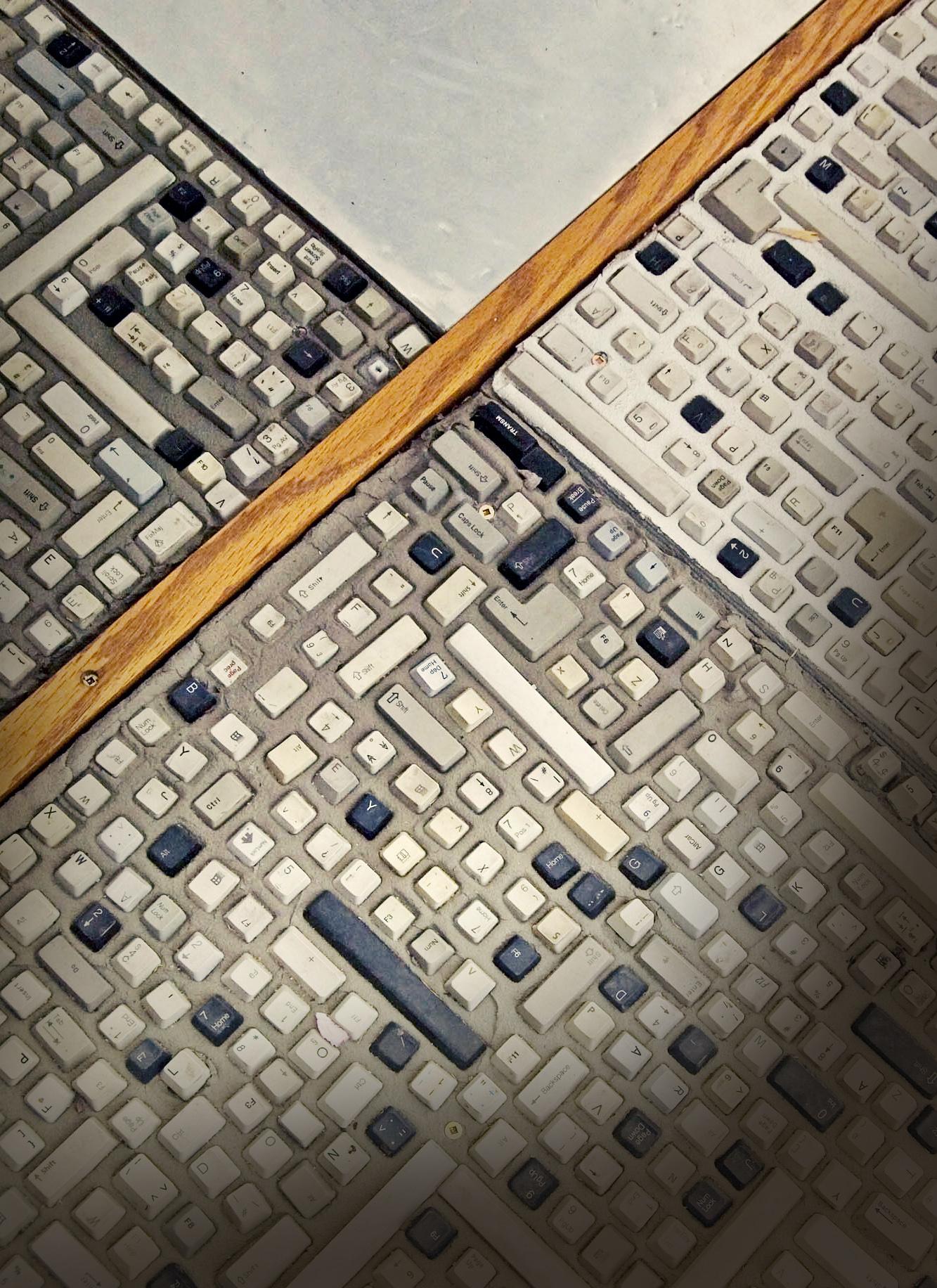 Espace Sedna - Mozaïque de claviers