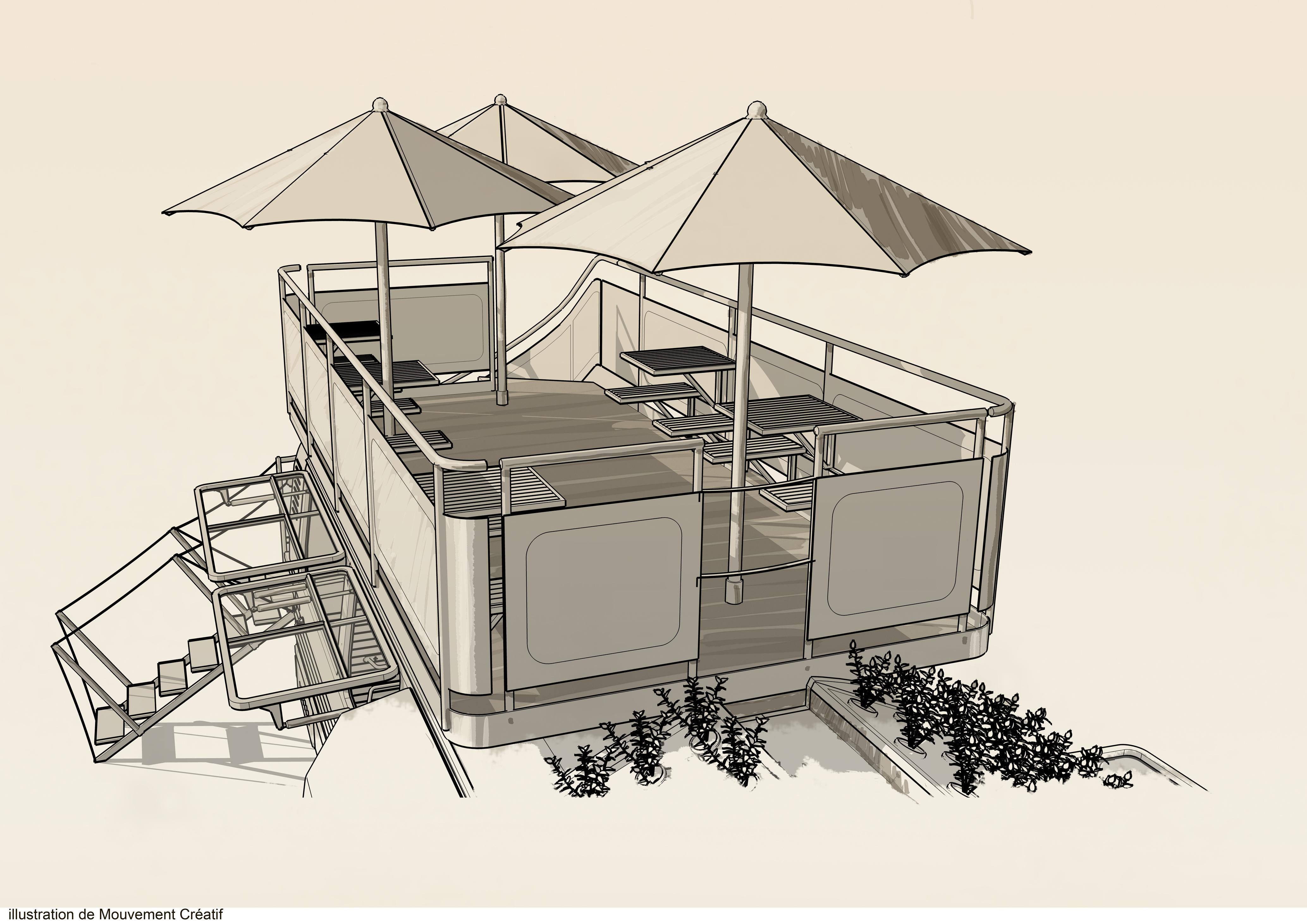 Esquisse - terrasse