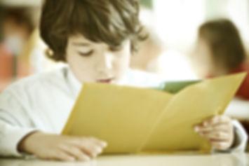 elementary school child reading