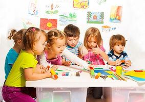 preschoolers in classroom
