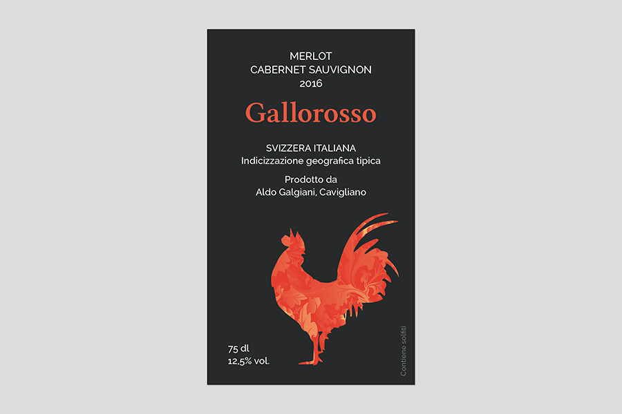 Etichetta vino Gallorosso