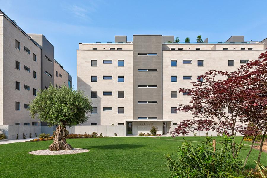 Eco-City, facciata esterna