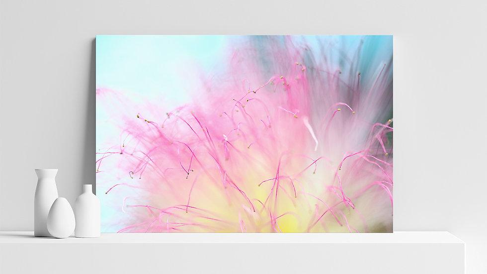 Quadro con stampa fotografica di fiore macro
