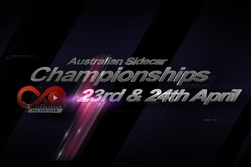 Australian Sidecar National Titles 23rd & 24th April - Qualifier & Championship