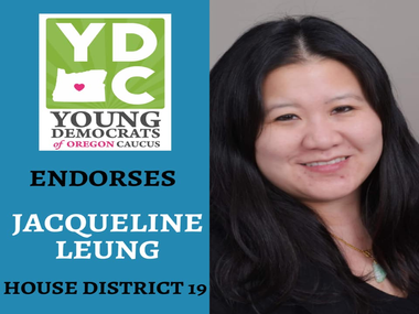 Jackie Leung Endorsed by Young Democrats of Oregon