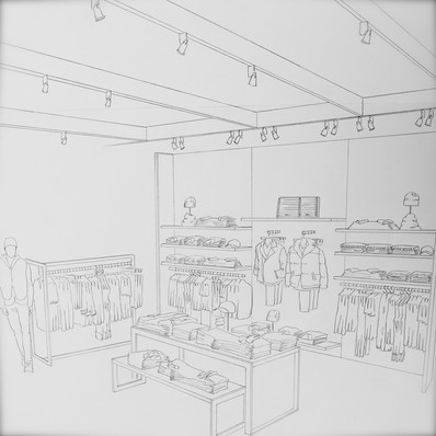 Armani Exchange interior layout