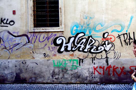 Prague graffiti