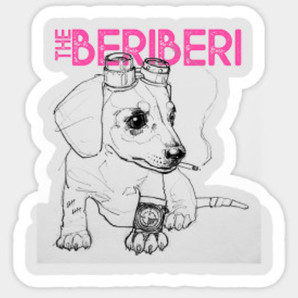 The BERiBERi Steampup sticker