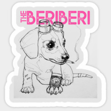 The BERiBERi Steampup sticker