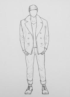 Armani Exchange mannequin concept