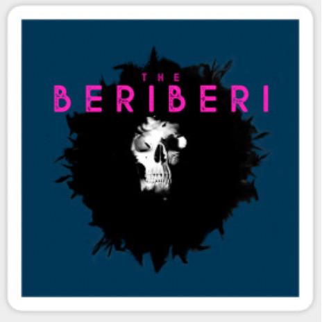 The BERiBERi skull sticker