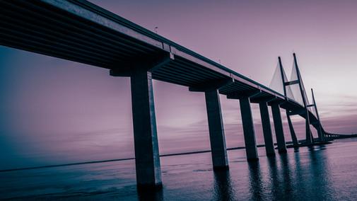 Sidney Lanier Bridge at dusk