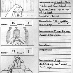 Parable (2015) storyboards