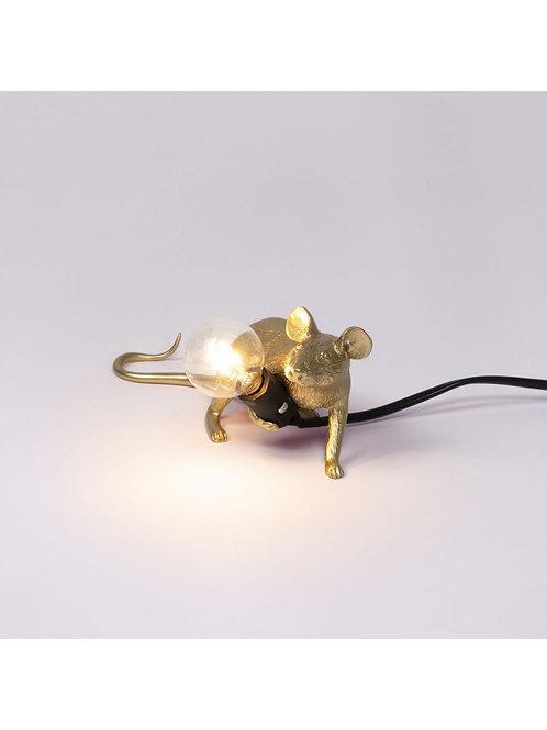 LAMPE SOURIS COUCHÉE DOREE SELETTI