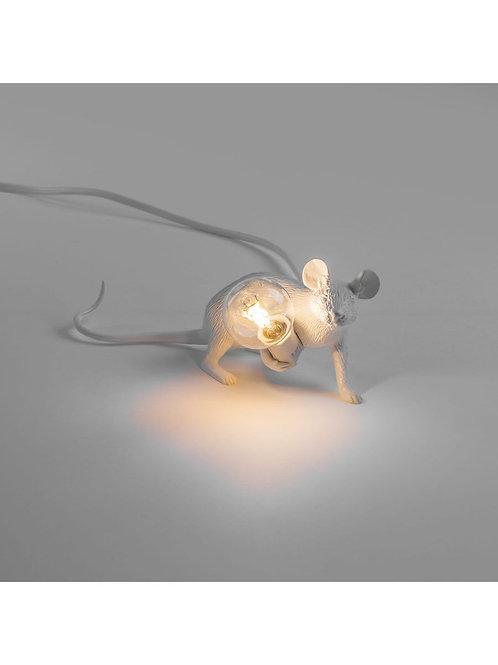 LAMPE SOURIS COUCHÉE BLANCHE SELETTI