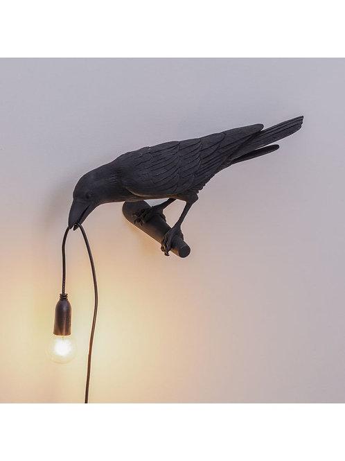 LAMPE APPLIQUE OISEAU NOIRE SELETTI