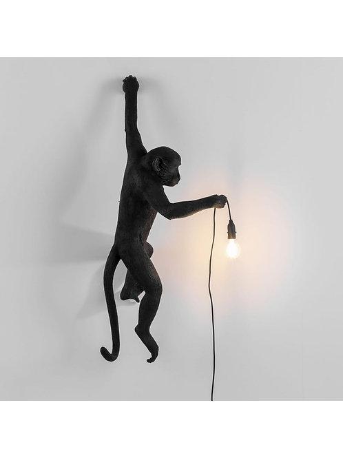 LAMPE APPLIQUE GAUCHE MONKEY  NOIRE SELETTI