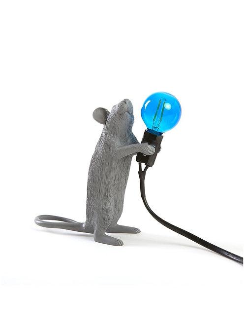 LAMPE SOURIS DEBOUT GRISE SELETTI